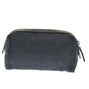 Authentic GUCCI Logo GG Pattern Cosmetic Pouch